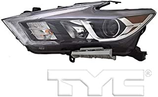 CarLights360: Fits 2016 2017 Nissan Maxima Headlight Assembly Driver Side (Left) DOT Certified w/Bulbs LED on Low Beam Type - Replacement for NI2502240