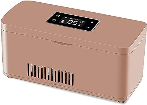 TYSJL Caja refrigerada de la insulina de la insulina del refrigerador del Mini medicamento USB para la visualización del LCD de los Viajes Refrigerador de insulina portátil para el automóvil - Negro,