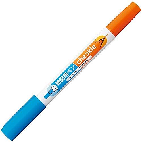 コクヨ チェックル 暗記用ペン ブライトカラー 青 オレンジ PM-M221-1P 5個セット