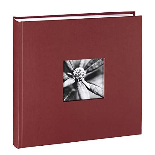 Hama Fotoalbum Jumbo 30x30 cm (Fotobuch mit 100 weißen Seiten, Album für 400 Fotos zum Selbstgestalten und Einkleben) bordeaux