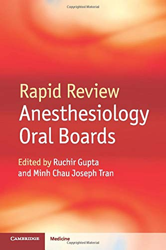 Compare Textbook Prices for Rapid Review Anesthesiology Oral Boards 1 Edition ISBN 9781107653665 by Gupta, Ruchir