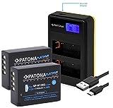 PATONA Batterie de remplacement Patona Platinum avec double chargeur double LCD pour Fujifilm NP-W126s