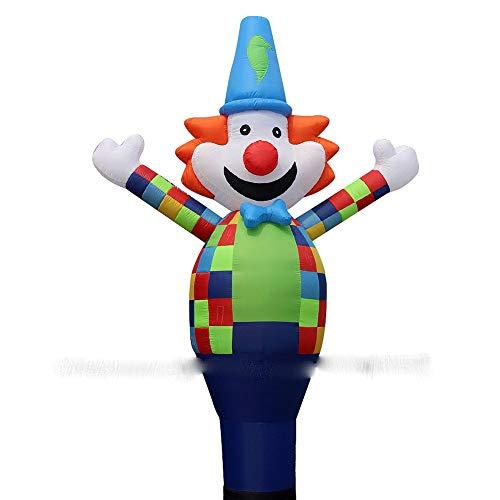Fantasma inflable de Halloween Tubo de Halloween hinchables 3D multicolor payaso bailarín aire del cielo Bailarín inflable payaso danza marionetas viento inflable Publicidad hinchable en forma 18 \'\' B