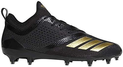 adidas Adizero 5-Star 7.0 Cleat - Men's Football 13.5 Black/Gold Metallic