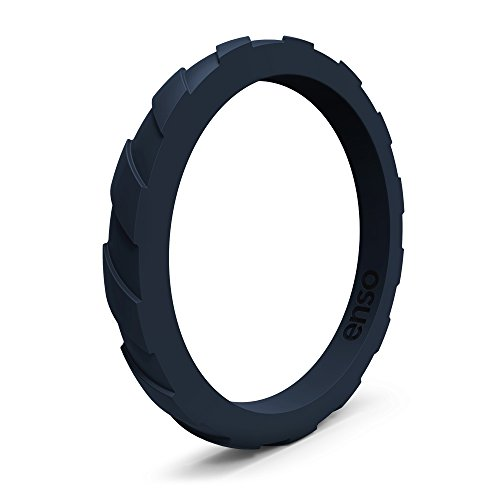 Enso Treaded Silicone Ring, Functional Wedding Ring for The Gym, Sports,...