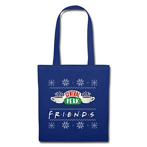 Spreadshirt Friends X-Mas Central Perk Stoffbeutel, Royalblau