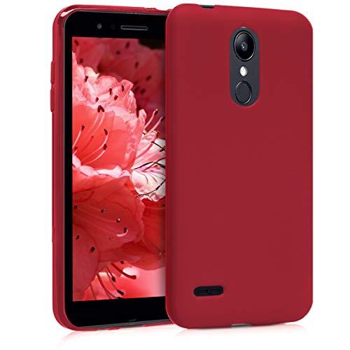 kwmobile Funda Compatible con LG K8 (2018) / K9 - Carcasa de TPU Silicona - Protector Trasero en Rojo Oscuro