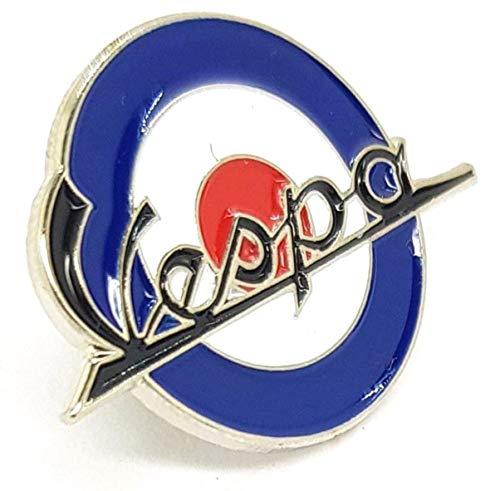 Matfords Anstecknadel für Vespa, Scooter, Mod Round Skinheads, aus emailliertem Metall, ca. 26 mm Durchmesser, anlaufgeschützt, hochwertige Kupplung und Anstecknadel, britisches Unternehmen