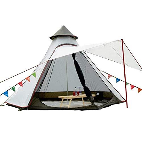 TentHome Tente Tipi Tente Yourte Familiale Imperméable 380CM / 12.5 Pied Double Couches pour...