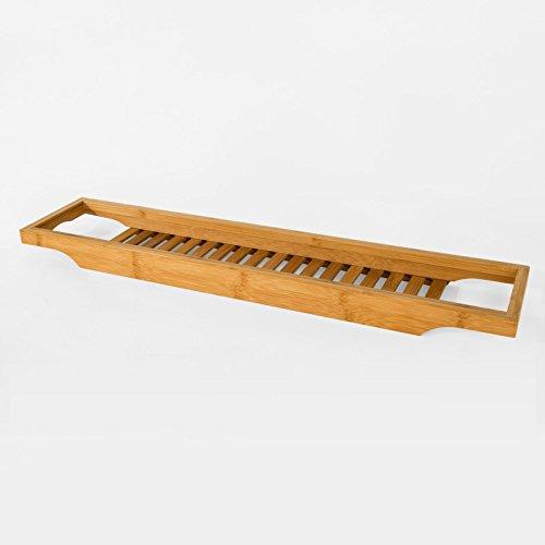 SoBuy® Ripiano per Vasca da Bagno in bambù,Scaffale...