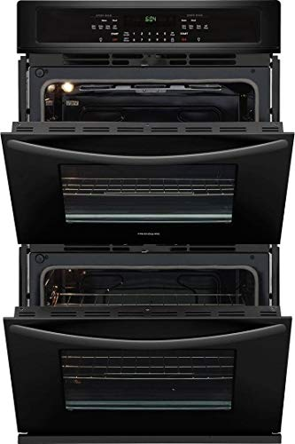 """Frigidaire 2-Piece Kitchen Package with FFGC3026SB 30"""" Gas Cooktop, and FFET3026TB 30"""" Electric Double Wall Oven in Black Stainless Steel"""