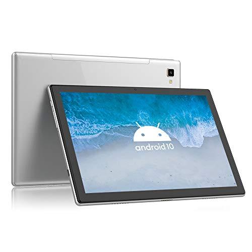 Blackview Tab8 Tablet 10,1 Zoll Android 10 Tablet-PC (1920x1200 FHD 6,580mAh Akku, Octa-Core-Prozessor, 4GB RAM, 64GB ROM, 13MP + 5MP Kamera, 4G LTE + 5G-WiFi, Face ID, GPS, Bluetooth 5.0, OTG) (Grau)
