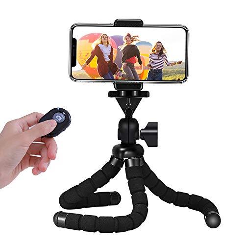 Handy Stativ, Mini Flexible Octopus Style Smartphone Reise Stativ, Handy Halter Halterung für Kamera, iPhone, Sumsung und andere Android-Smartphone mit Bluetooth Fernsteuerung…