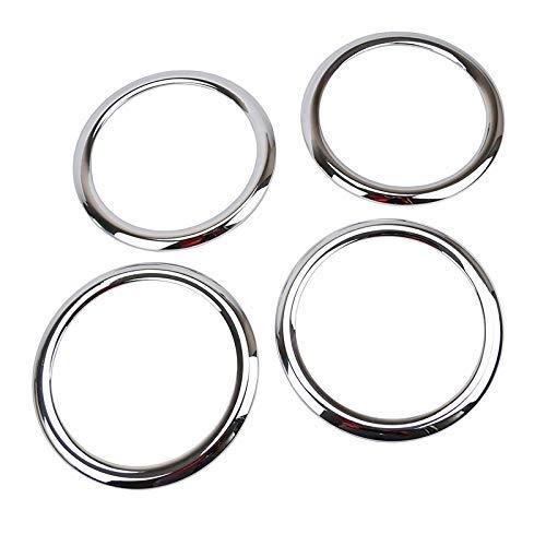 4 Stück passend für Dodge Caliber 2006–2012 Autotür-Audioablage, Chrom-Lautsprecher-Abdeckung, Blende für Subwoofer-Rahmen, Garnierzubehör