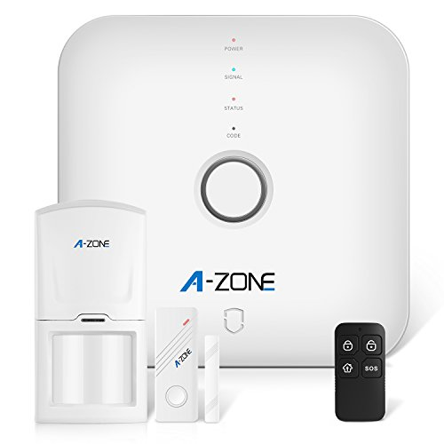 A-ZONE Smart Home Security System with SOS Alarm Panel, Door/Window Sensors,Motion Detectors,Remote Control and App Control