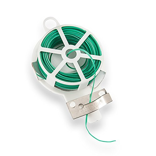 HaGa® Rouleau de fil de fer pour plantes Vert 20 m