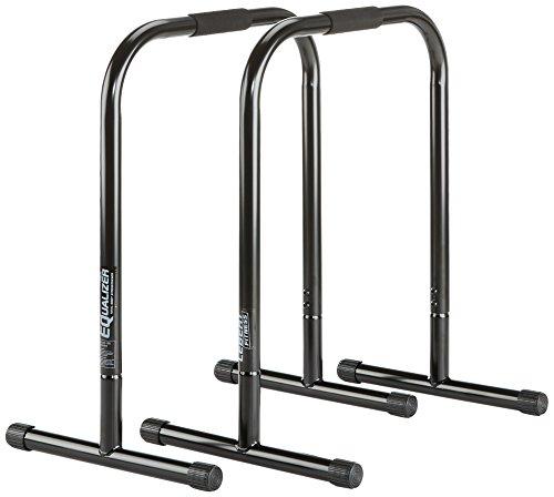 Lebert Fitness Equalizer Dip barren hoch 2er verschiedene Farben (Schwarz XL 64 x 80 cm)