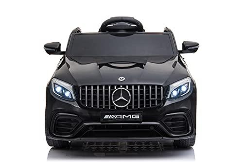 CIERVO Mercedes GLC Coupe' 63 AMG Macchina Elettrica per Bambini12V Batteria con Telecomando Auto Giocattolo Porte Apribili Luci Led con Lettore MP3 Età 2-6 Anni (NERA)
