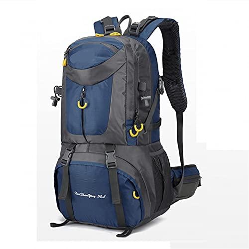 HUATINGRHCH Mochila de Senderismo de Gran Capacidad de 40/50 / 60L, Mochilas Impermeables de montaña para Hombres, Mochilas de Viaje para Acampar Unisex,al Aire Libre, Dk Blue, 60 L