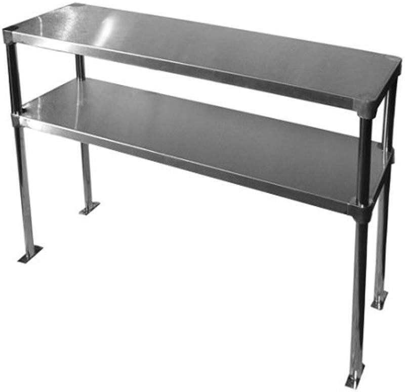 Stainless Steel Adjustable Double Overshelf For Work Table 14 X 72 Top Mount