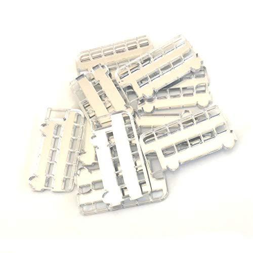 Servewell Bus vormgegeven Crafting Spiegels, set van 10, vele kleuren, onbreekbaar acryl Pack of 10 x 3cm Bronzen Spiegel