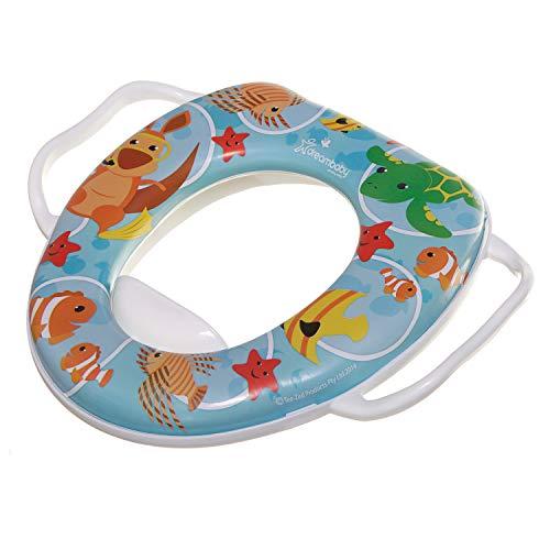 Dreambaby F678 Kinder-Toilettensitz Kindertoilette WC-Sitz für Kinder Klositz, mit Griffen zum leichten Abnehmen, Lustige Tiermotive