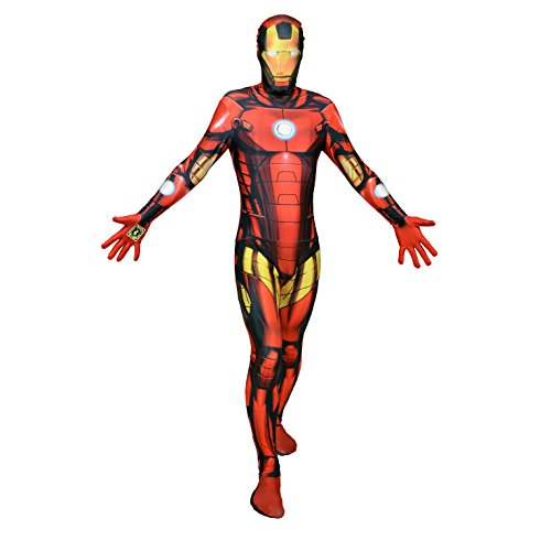 Halloween Party Digital Morphsuit Iron Man Costume da Tutto Il Corpo M