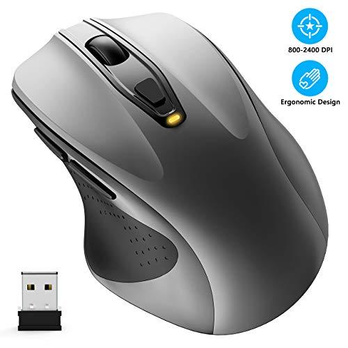 WisFox Ratón inalámbrico, 2.4G Óptico Ratón Ratón de
