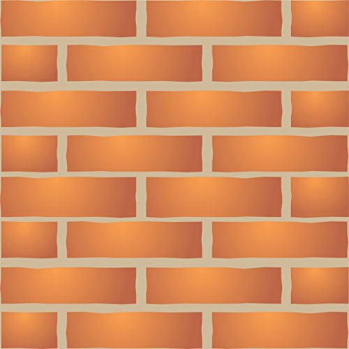 Brick Wall Stencil, 10 x 6.5 inch (S) - Faux Brick Wall Stencils for Painting Template