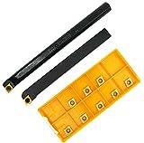 2 barras de taladro SCLCR 1010H06 S10K-SCLCR06 de 3/8 pulgadas con 10 piezas CCMT 21.51 in...