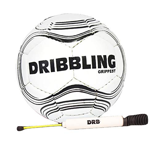 DRB DRIBBLING Grippest Handball Includes Ball Pump Color White Hand Made Durable Scuff, Water Resistant, Indoor Outdoor Recreational Training Ball (Ball Nº2 with Pump)