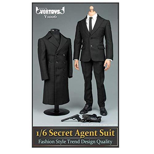 NEDTO 1/6 VORTOYS V1006 Agent Anzug Mantel Set James Bond 007 Für HT VERYCOOL TTL Hottoy Phicen