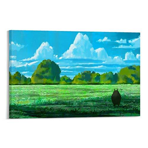 DRAGON VINES Lienzo mural de animación con texto en inglés 'My Neighbor Totoro' (50 x 75 cm)