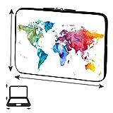 PEDEA Design Schutzhülle Notebook Tasche bis 15,6 Zoll (39,6cm), Color World