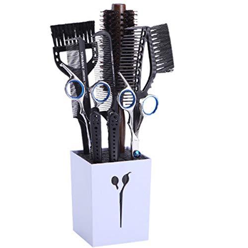 Wallfire 9 in 1 Friseur Scheren Set Professionelle Haarschneideschere Ausdünnungsschere Haarkamm Clips Färbebürste mit Scherenhalter für Zuhause Salon Friseur
