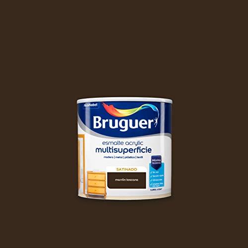 Bruguer Acrylic Multisuperficie Esmalte al agua Satinado Marrón Toscana 250 ml