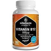 Vitamaze Vitamin B12 1.000 g hochdosiert vegan Tabletten, 18