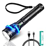 PEETPEN LED Rechargeable Zoomable Tactical Flashlight, High Lumens, Super Bright Handheld Flashlights. IPX6 Waterproof (18650 Battery Included) 4 modes, for Camping, Hiking, Outdoor, Emergency