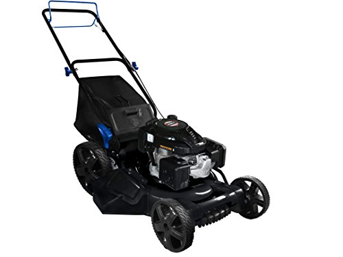 AAVIX AGT1321S 159CC Push 3-in-1 Gas Push Lawn Mower, 22', Black/Blue
