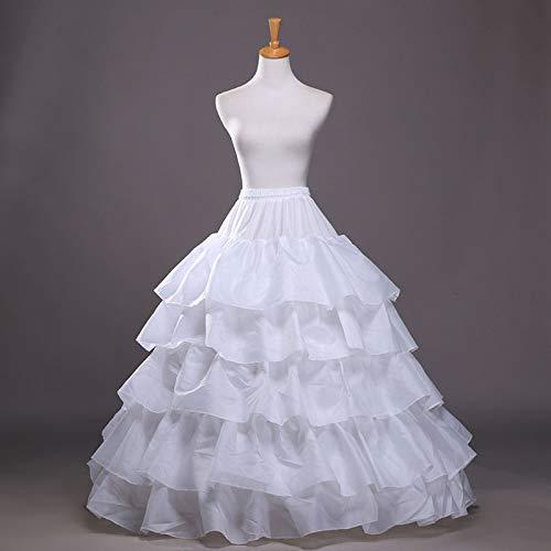 Helmay bruiloft petticoat bruidsjurk hoopless crinoline half slip prom onderrok fancy rok