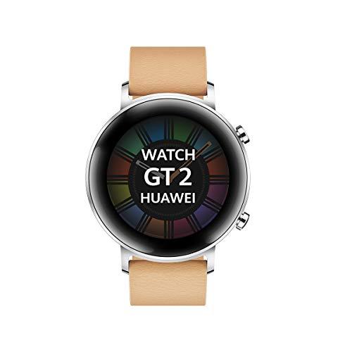 "Huawei Watch GT 2 - Smartwatch con Caja de 42 mm, hasta 1 Semana de Batería, Pantalla táctil AMOLED 1.2"", GPS, 15 Modos Deportivos, Pantalla 3D de Cristal, monitorización cardíaca, Rojo 1"