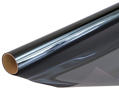 Venilia Fensterfolie Hitzeschutz, Sonnenschutzfolie, Thermofolie mit Hitzeschutz, Scheibenfolie schützt vor Sonneneinblendung und eindringen von Wärme, 92cm x 2m, 53438