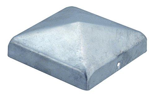 GAH-Alberts 216689 Pfostenkappe für Holzpfosten, flache Form, feuerverzinkt, 100 x 100 mm / 1 Stück
