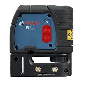 Bosch Professional GPL 3 – Nivel láser de puntos (alcance 30 m, 3 puntos, en caja)