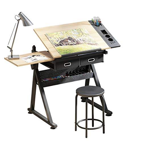 CIKO Zeichentisch - Malpult Mit Kippbarer Tischplatte - Architekturentwurfsarbeitsplatz, Arbeitszimmer, Entwurf, Home-Office-Computertisch