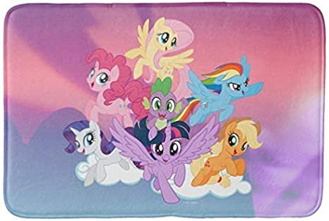 Amazon Com Aomsnet Bathroom Decor Mat Shower Rug Mat Water Absorbent Fast Drying For Kitchen Bedroom Hotel Spa Tub 30x18 Inches With Non Slip Backing Bath Mat My Little Pony Mane Six On
