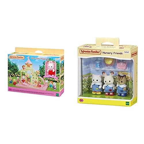 SYLVANIAN FAMILIES 5319 Parque Infantil Castillo De Bebés + Nursery Friends Mini Muñecas Y Accesorios, Multicolor (Epoch para Imaginar 5262) , Color/Modelo Surtido