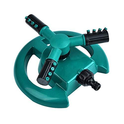 TeasyDay Automatischer Gartenrasen-Sprinkler-Sprinklerkopf, 360 ° -Wasser-Sprinkler, fortschrittlicher ABS-Kunststoff 21 × 19 × 9,5 cm, Sprühbereichabdeckungen Bis zu 3.400 m² (Grün)