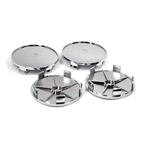 PT-Decors Universal-Radkappen für Fahrzeuge, Motoren, Autos, 68 mm Durchmesser, ABS-beschichtet mit Chrom