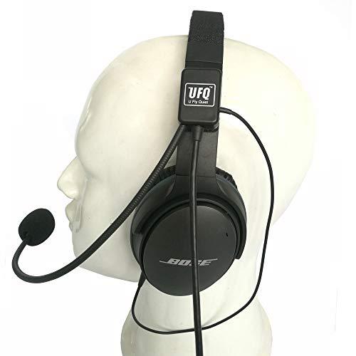 UFQ AV Mike-2 Aviation Headset Mikrofon passend für Bose QC25 QC35 Sony MDR 1000X inkl. Headsettasche auch mit MP3 Eingang vergleichbar mit U Fly Mike